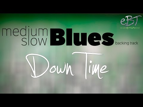 Medium Slow Blues Backing Track in A Major  65 bpm