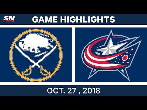 NHL Highlights | Sabres vs. Blue Jackets - Oct. 27, 2018
