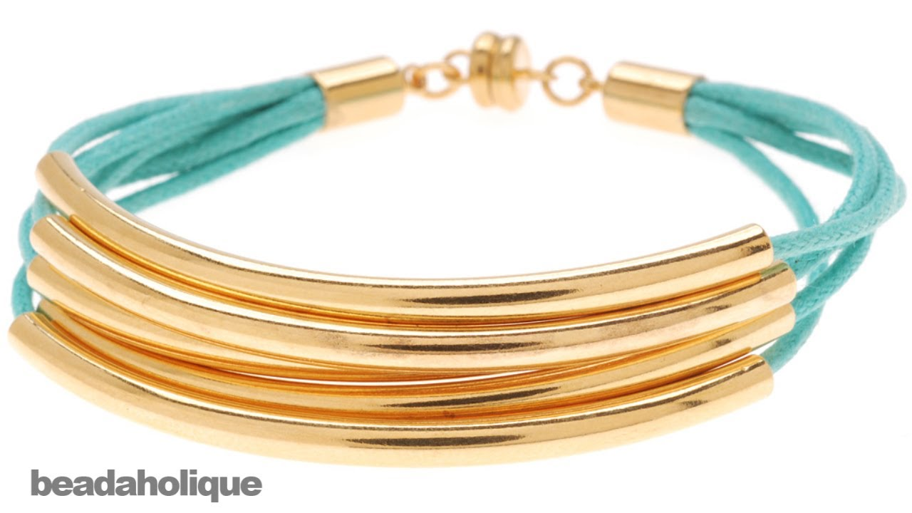 4 Gold Plated Barrel Cord Ends with Ring 10mm Long Fits Up to 4mm Cord