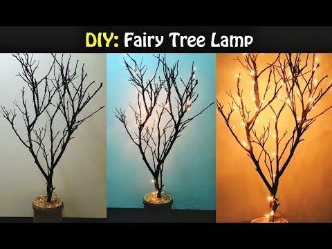 DIY Fairy Tree Lamp | Lit Tree DIY |  Afia's galleria