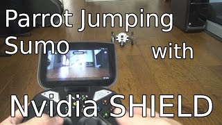 Parrot Jumping Sumo Unboxing and Test with Nvidia SHIELD Portable!