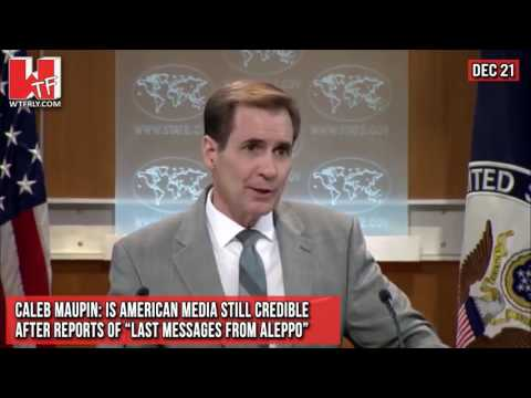 """Caleb Maupin: Is American Media Still Credible After Reports of """"Last Messages from Aleppo"""""""
