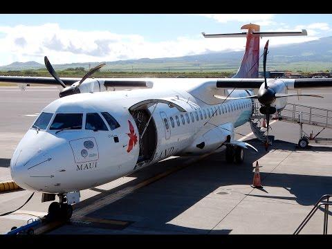 GoPro Aerospatiale ATR 72-212 Island Air Hawaii Honolulu, Oahu to Kahului, Maui