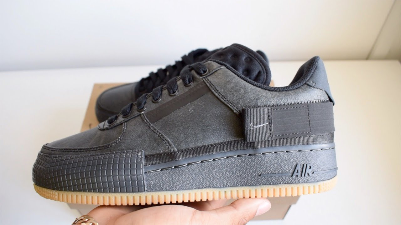 invención llorar cache  Nike Air Force 1 Type Black / Gum Unboxing (Giveaway in description) -  YouTube