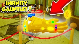 Using THANOS INFINITY GAUNTLET To Rob The BANK In ROBBERY SIMULATOR!! (Roblox)