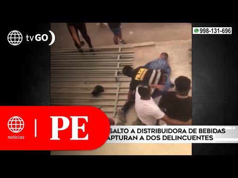 Policía frustra asalto a distribuidora de bebidas y captura a dos delincuentes | Primera Edición
