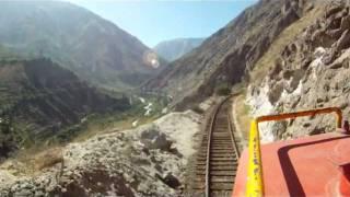 Tren Lima a Huancayo desde la locomotora