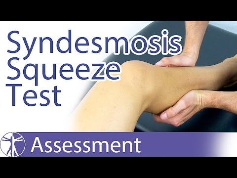 The Syndesmosis Squeeze Test | Syndesmosis Injury