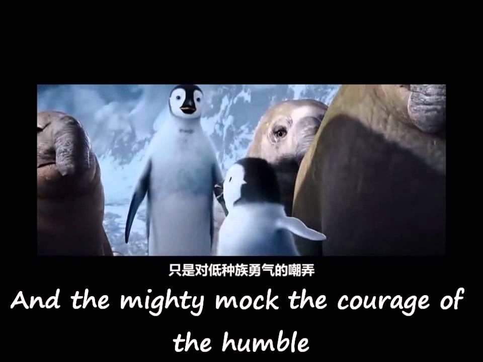 Happy Feet 2 Erik S Opera With Chinese And English Lyrics My Hero My Father Youtube