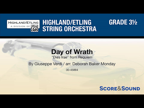 Day of Wrath, arr. Deborah Baker Monday – Score & Sound