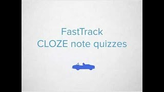 Canvas FastTrack - Cloze Note Quizzes