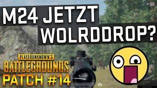PUBG - M24 jetzt ÜBERALL FINDEN! Worlddrop - Update Patch 14 Patchnotes - German Deutsch
