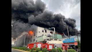 Cháy lớn tại KCN Việt Hương, Thuận An Bình Dương
