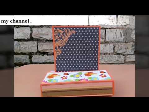 DIY Standing Card tutorial 😍 # Photo frame card #scrapbook Ideas # album ideas # for all occasions