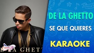 De la Ghetto - Se que quieres [Video Oficial] Karaoke | Canto yo