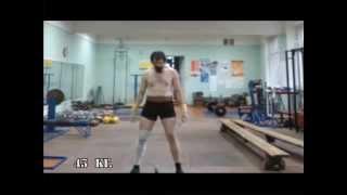 Рывок гири 43 кг. Гиревой спорт. Сергей Долина.