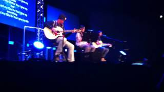 """LET THE PRAISES RING"" acoustic by Ed, Kieffer and Marissa Mendoza at CR LifeSong Lyman"