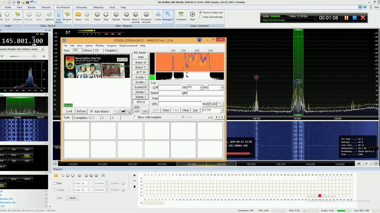 Live SSTV immage from ISS - 145 800MHz |13/4/2018