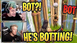 Ninja and Tfue Ran Into an Actual BOT! - Fortnite Best and Funny Moments
