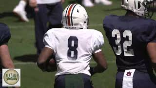 Tank Bigsby, Shaun Shivers And The Auburn RBs Run Drills During Spring Practice On Saturday