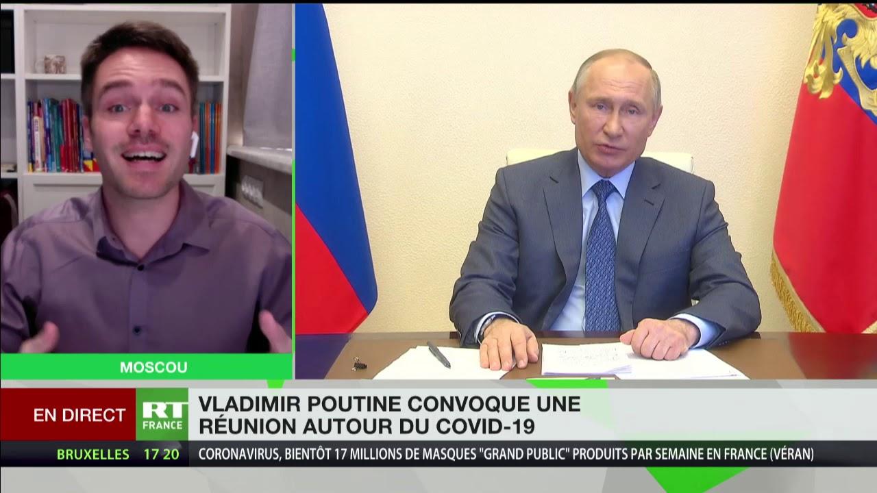 Vladimir Poutine convoque une réunion consacrée au Covid-19