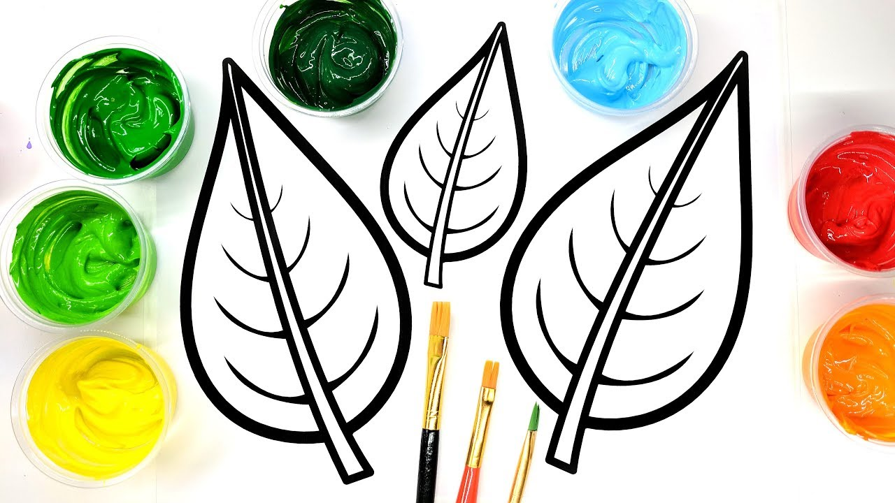coloring fall leaves with paint children can learn to color with