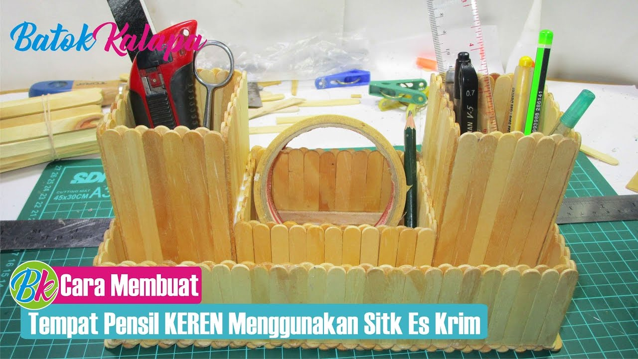 How To Make A Pencil Holder With Ice Cream Stick