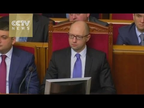 Arseniy Yatsenyuk elected for a new term as Ukraine PM