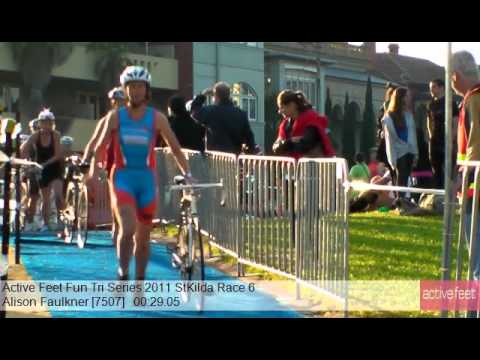 Alison Faulkner 7507 Active Feet Fun Tri Series 2011 StKilda Race 6