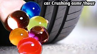 Crushing Asmr With Car 1 Hour | Crushing Crunchy \u0026 Soft Things By Car 1 hour |