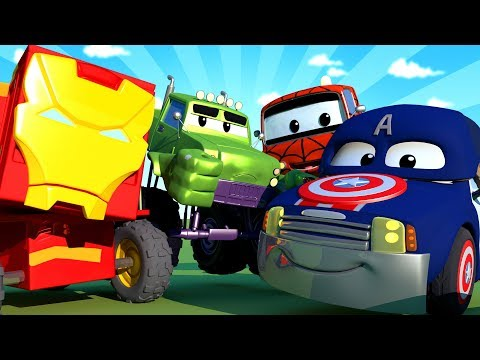 Car Patrol -  Special Avengers - Avengers save Jeremy - Car City ! Police Cars and fire Trucks