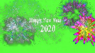 Amazing Magical Fireworks Effect Happy New Year 2020 FREE Green Screen