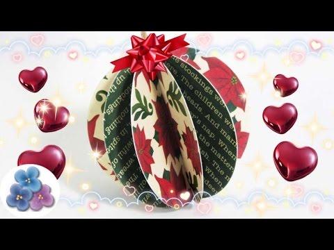 Esferas navide as de papel muy facil christmas adornos - Adornos de navidad con papel ...