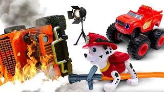 Щенячий Патруль, Чудо Машинки снимают кино! Время быть героем на съемочной площадке! Тушим пожар!