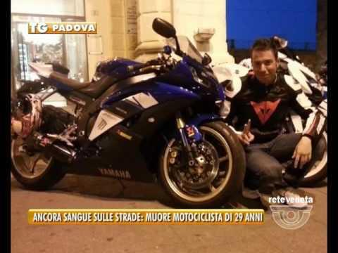 TG PADOVA (venerdì 20 maggio 2016) - ANCORA SANGUE SULLE STRADE: MUORE MOTOCICLISTA DI 29 ANNI