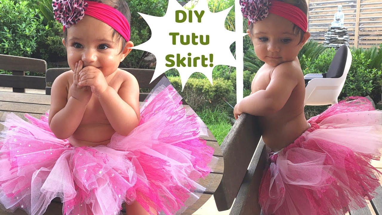 No Sew Tutu Skirt For Baby