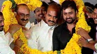Nara Rohit with Agriculture Minister of AP Puttaparthi Pulla Rao at Asura Audio Launch