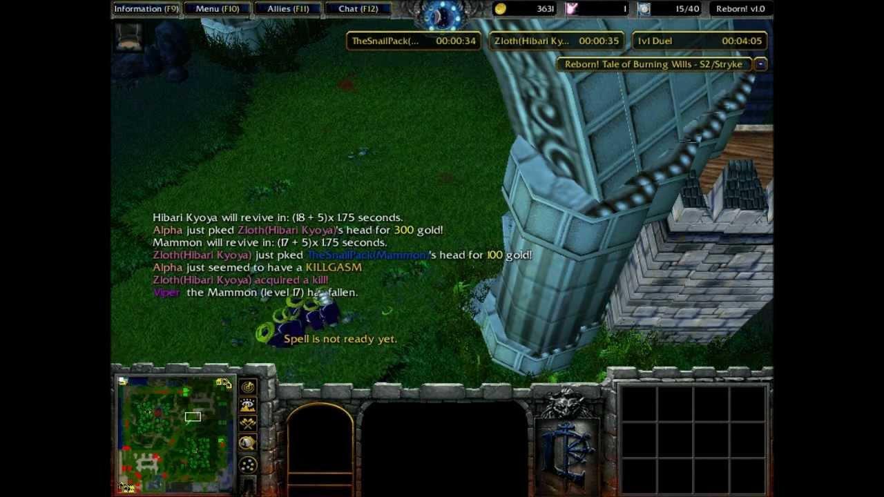 Warcraft 3 TFT: Katekyo Hitman Reborn! 1v1