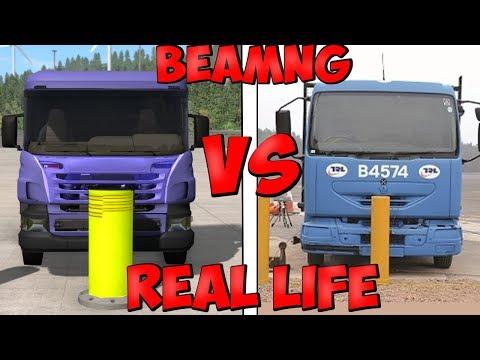 Real Life VS BeamNG.Drive - Crash Testing & Damage Comparison