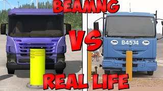 Real Life VS BeamNG.Drive - Crash Testing & Damage Comparison