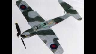 Rubber Powered Fairey Barracuda Bomber Model Airplane