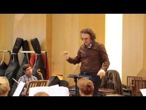 rehearsal. Marques. Danzon No.2. Yuri Medianik - conductor.  Russian Philharmonic Orchestra