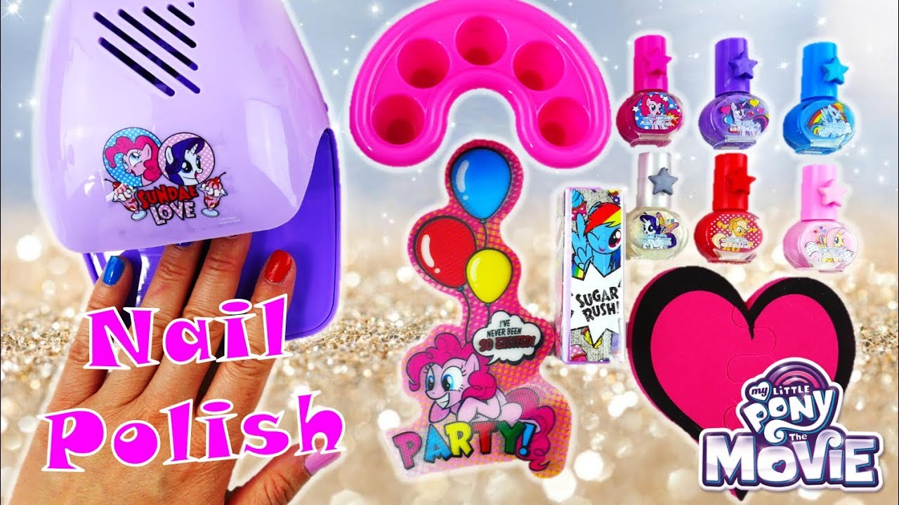 New My Little Pony Nail Salon with Nail Polish and Nail Dryer Kit ...