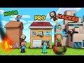Minecraft - FAMILY HOUSE WARS! (NOOB vs pRO vs HACKER)