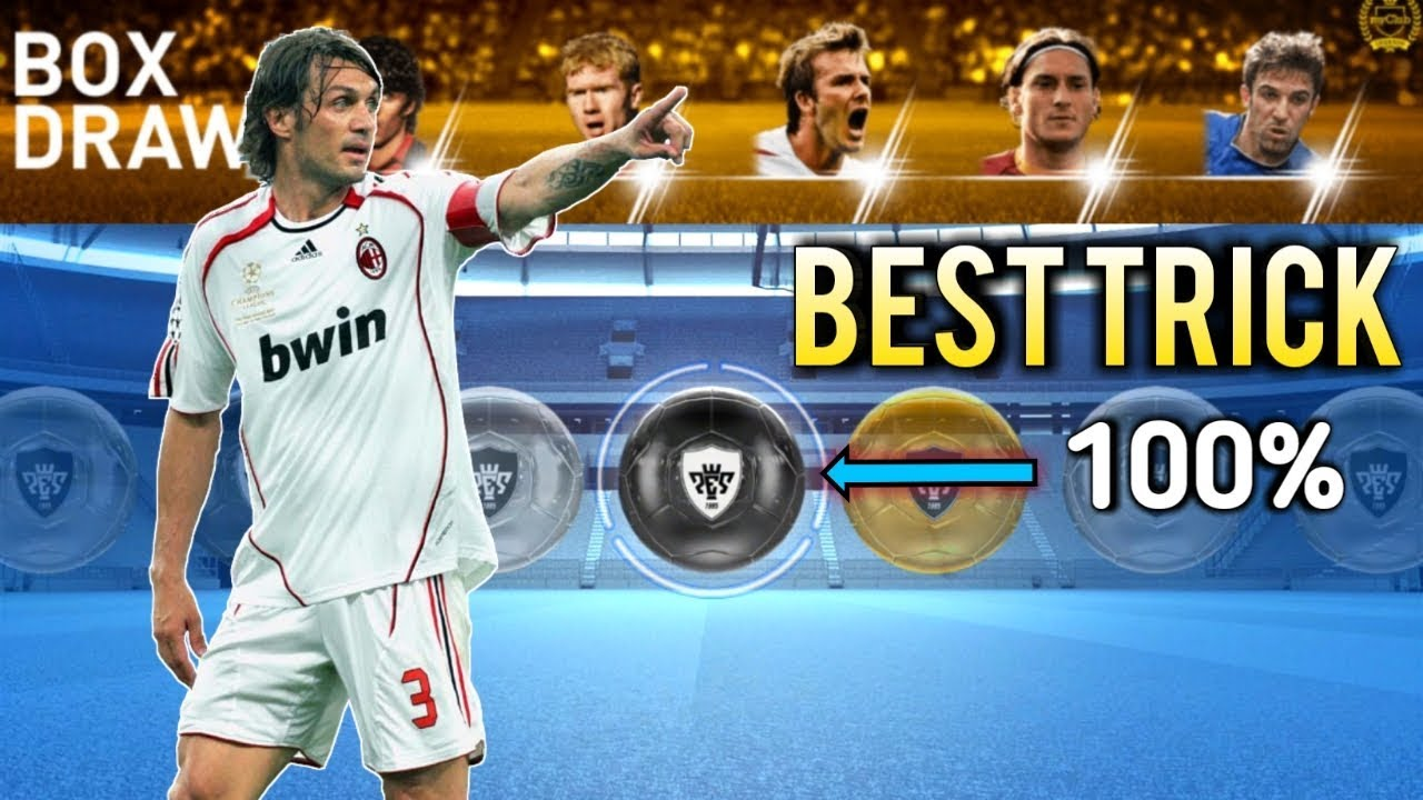 How to get Maldini Legend in first try! Black ball trick in pes 2019 mobile