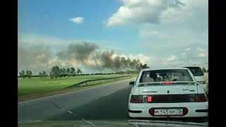 Пожар в УАЗе возле Алейска