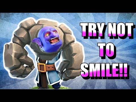 Thumbnail: TRY NOT TO SMILE!! 😀IMPOSSIBLE CHALLENGE!! 😀CLASH OF CLANS!!!