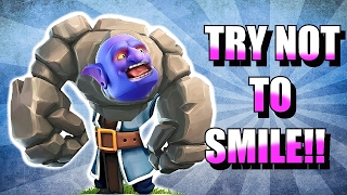 TRY NOT TO SMILE!! 😀IMPOSSIBLE CHALLENGE!! 😀CLASH OF CLANS!!!