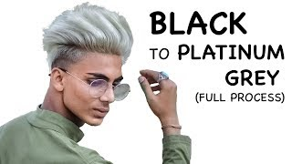 Hair transformation | Black to Platinum Grey | Men's Hairstyle | Najid Tayfur