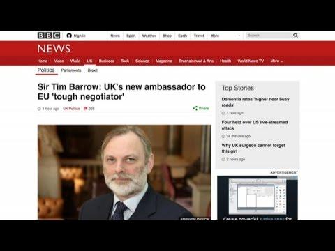Brexit, Sir Tim Barrow nuovo ambasciatore britannico in Ue